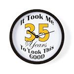 35 Years Old Wall Clock