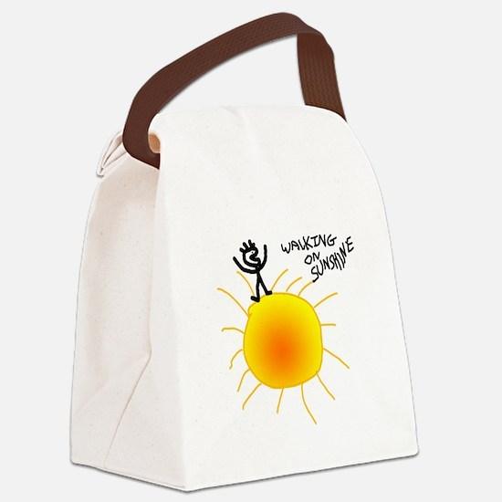 Walking on Sunshine Canvas Lunch Bag