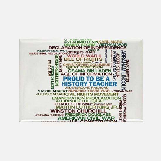 Proud History Teacher Magnets