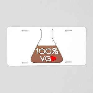 I love 100% VG Juice Aluminum License Plate