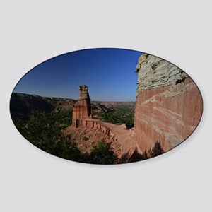 The Lighthouse in Palo Duro Canyon Sticker (Oval)