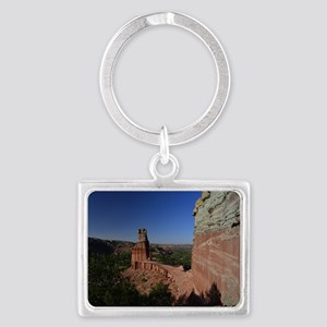 The Lighthouse in Palo Duro Can Landscape Keychain
