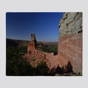The Lighthouse in Palo Duro Canyon Throw Blanket