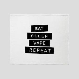 Eat, sleep, vape, repeat Throw Blanket