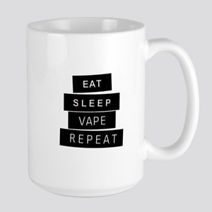 Eat, Sleep, Vape, Repeat Large Mug Mugs