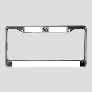 Pug wakeup call 2 License Plate Frame