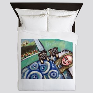Pug wakeup call 2 Queen Duvet