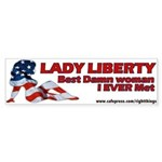 Lady Liberty Patriotic Bumper Sticker