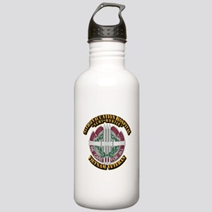 Army - 95th Evac Hospital Stainless Water Bottle 1
