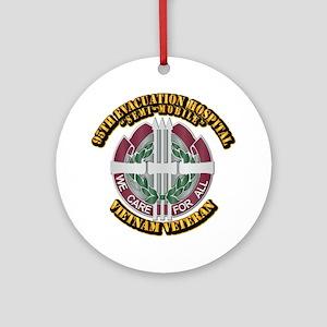 Army - 95th Evac Hospital Ornament (Round)