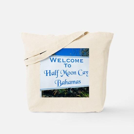 Half Moon Cay Bahamas Tote Bag