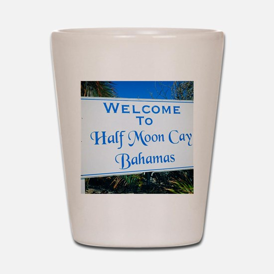 Half Moon Cay Bahamas Shot Glass