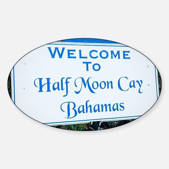 Half Moon Cay Bahamas Sticker (Oval)