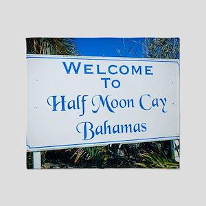 Half Moon Cay Bahamas Throw Blanket