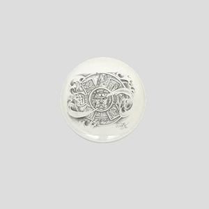 Aztec Calendar Mini Button