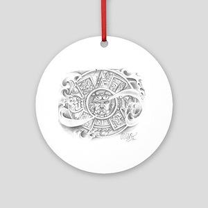 Aztec Calendar Ornament (Round)
