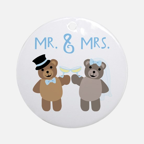 Mr. And Mrs. Ornament (Round)