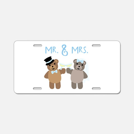 Mr. And Mrs. Aluminum License Plate