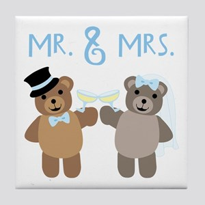 Mr. And Mrs. Tile Coaster