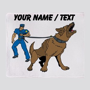 Police K9 Unit Throw Blanket