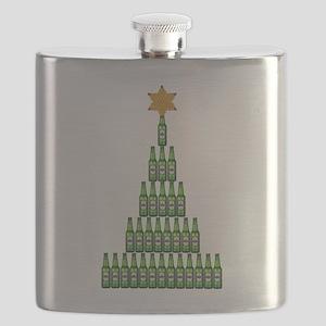 Beer Christmas Tree Flask
