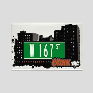 W 167 St, Bronx, NYC Rectangle Magnet