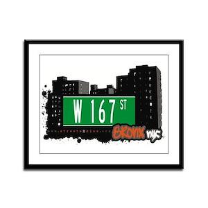 W 167 St, Bronx, NYC Framed Panel Print