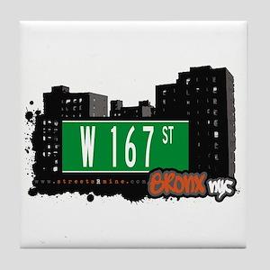 W 167 St, Bronx, NYC Tile Coaster