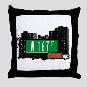 W 167 St, Bronx, NYC Throw Pillow