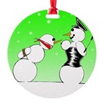 Femdom Snow Woman Ornament