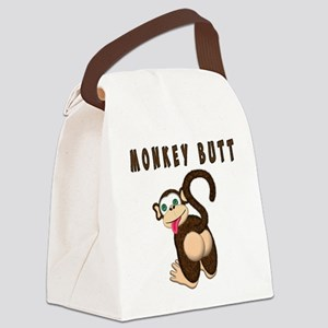 Monkey Butt New Begining Canvas Lunch Bag