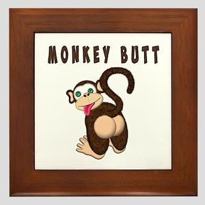 Monkey Butt New Begining Framed Tile