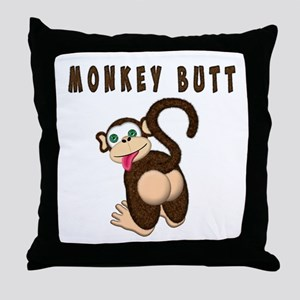 Monkey Butt New Begining Throw Pillow