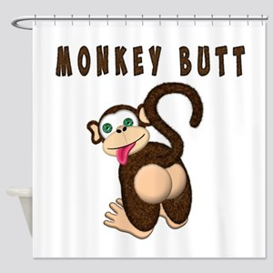 Monkey Butt New Begining Shower Curtain