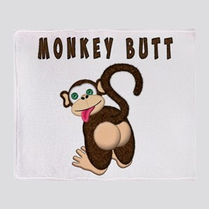 Monkey Butt New Begining Throw Blanket