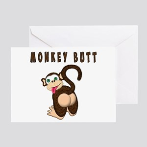 Funny monkey greeting cards cafepress monkey butt new begining greeting cards m4hsunfo