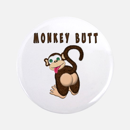 "Monkey Butt New Begining 3.5"" Button (100 pack)"