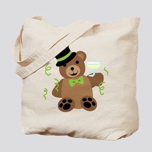 New Years Teddy Bear Tote Bag