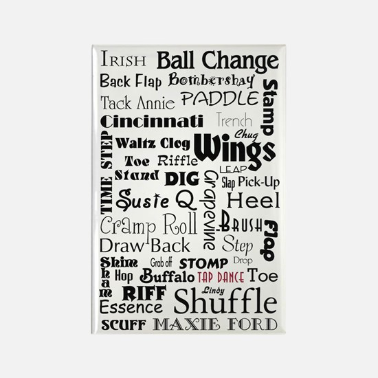 Tap Steps Collage Rectangle Magnet (10 pack)