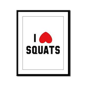 I Love Squats Framed Panel Print