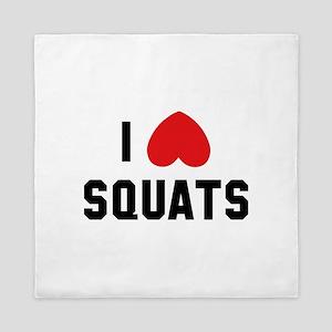 I Love Squats Queen Duvet