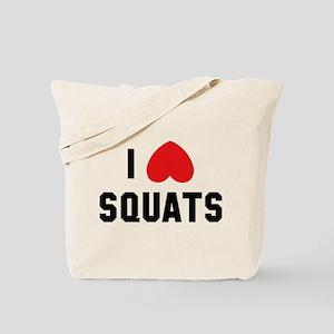 I Love Squats Tote Bag