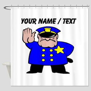 Mean Policeman Shower Curtain