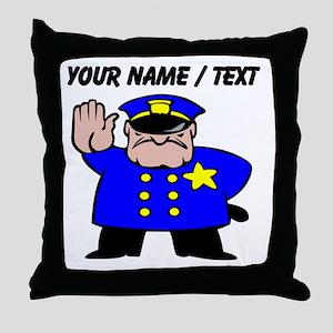 Mean Policeman Throw Pillow