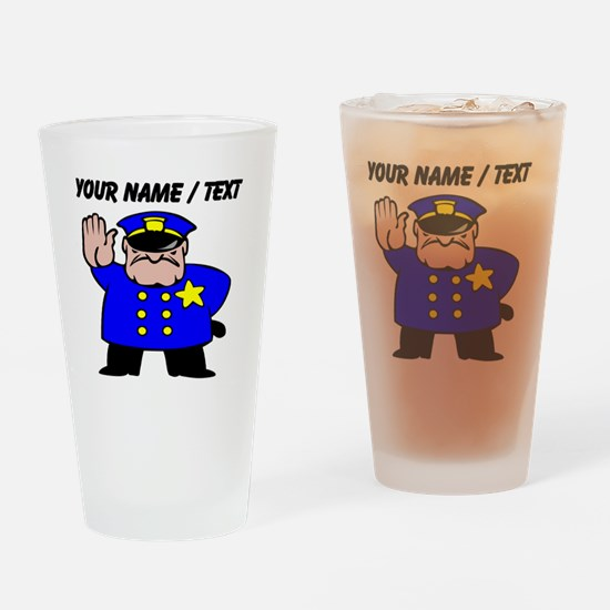 Mean Policeman Drinking Glass