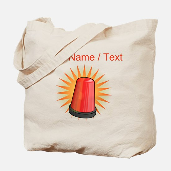 Red Police Light Tote Bag