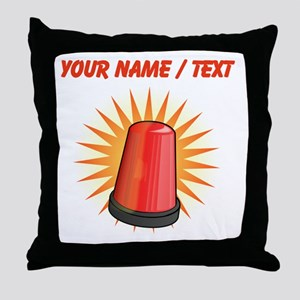 Red Police Light Throw Pillow