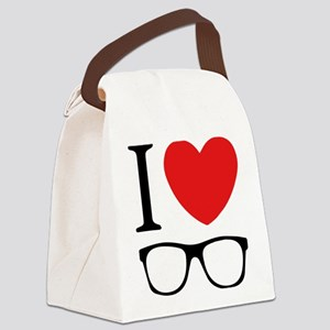 I Love Canvas Lunch Bag