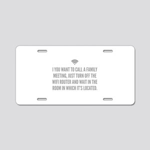 Wifi Router Aluminum License Plate