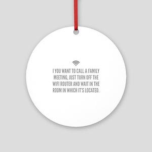 Wifi Router Ornament (Round)